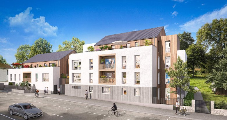 Achat / Vente programme immobilier neuf Nantes au coeur du quartier Contrie (44000) - Réf. 5295