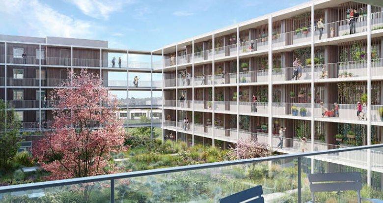 Achat / Vente programme immobilier neuf Nantes écoquartier de Bottière-Chênaie (44000) - Réf. 362