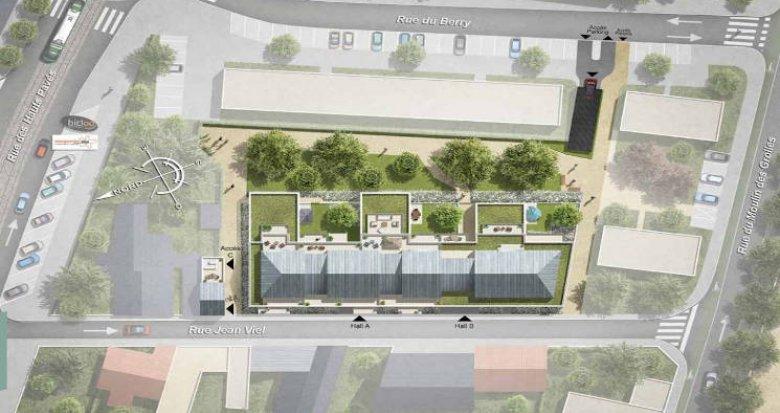 Achat / Vente programme immobilier neuf Nantes quartier hauts pavés (44000) - Réf. 4539