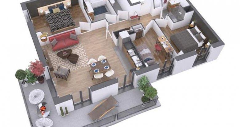 Achat / Vente programme immobilier neuf Nantes quartier La Prairie des Ducs (44000) - Réf. 204
