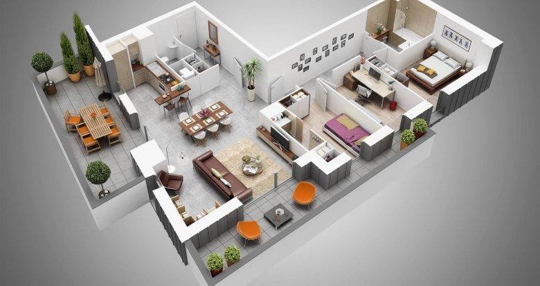 Achat / Vente programme immobilier neuf Nantes quartier Melllinet (44000) - Réf. 438