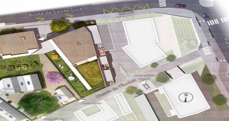 Achat / Vente programme immobilier neuf Nantes secteur Doulon proche tramway (44000) - Réf. 4719