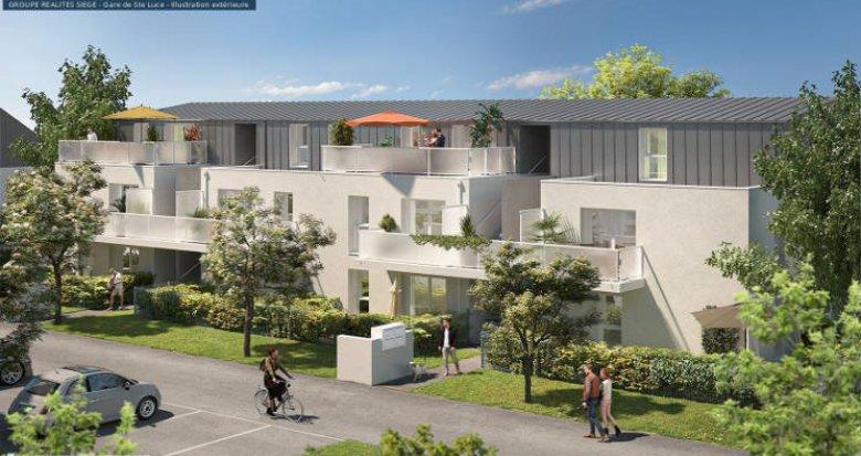 Achat / Vente programme immobilier neuf Sainte-Luce-Sur-Loire à 15 min du cœur de Nantes (44980) - Réf. 5883